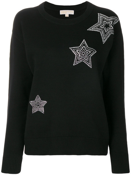 MICHAEL Michael Kors sweatshirt women spandex embellished cotton black sweater