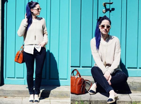 like a riot blogger blouse jewels shoes bag sunglasses jeans