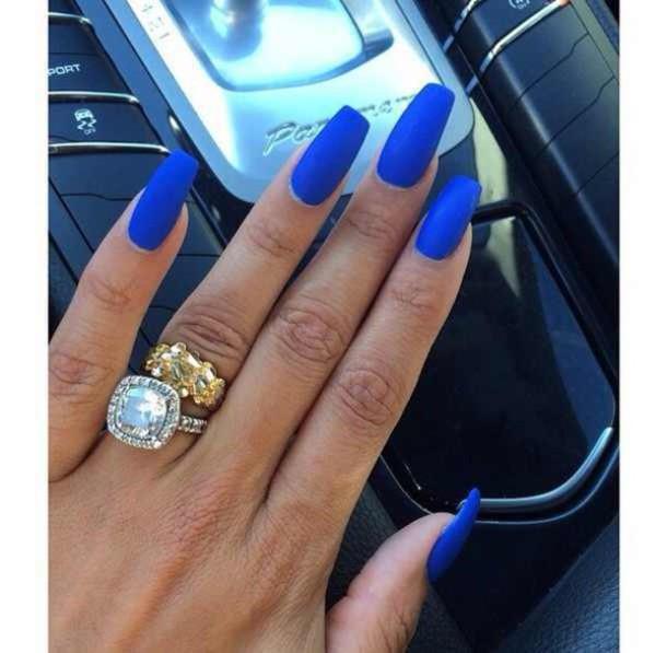 nail polish matte blue