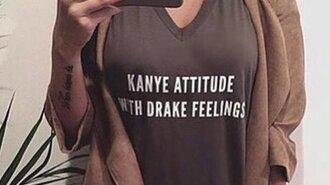 shirt kanye west drake khaki