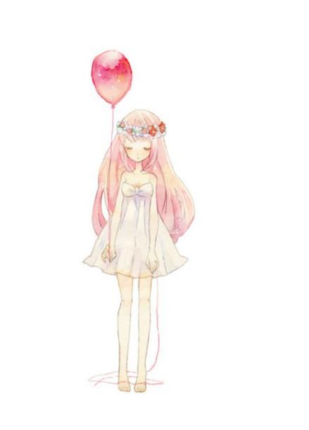 dress anime megurine luka vocaloid white dress