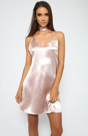 Silk Satin Dress Silver Slip Dress -Silver, Gold,Pink,Black,Red