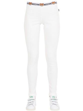 leggings bear cotton white pants