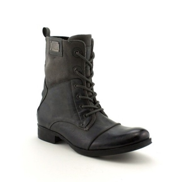 shoes mens shoes grey black mens wear combat boots vintage boots black boots gray boots men's boots boots, shoes, men's, red, burgundy, westfield, leather, patent, suede