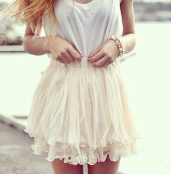 skirt white cute pretty