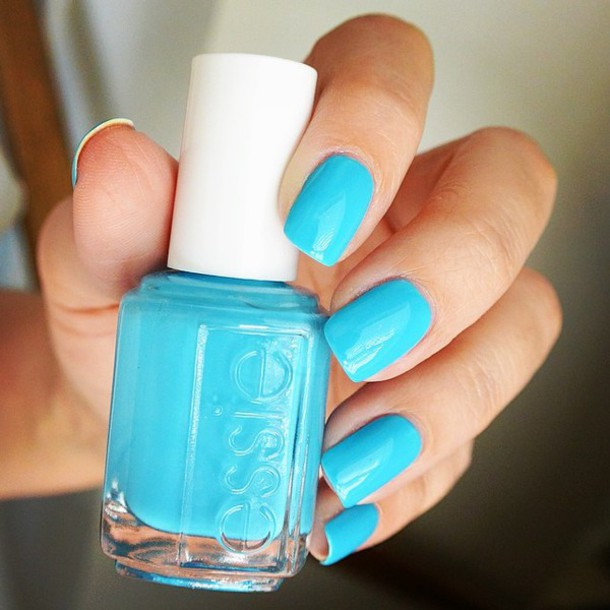 Neon Blue Nail Polish: Nail Polish: Light Neon Blue Nail Polish Form The Brand