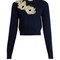 Nobuya floral-appliqué wool-knit cropped sweater | roksanda | matchesfashion.com us