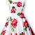 White Sleeveless Bandeau Floral Tank Dress - Sheinside.com