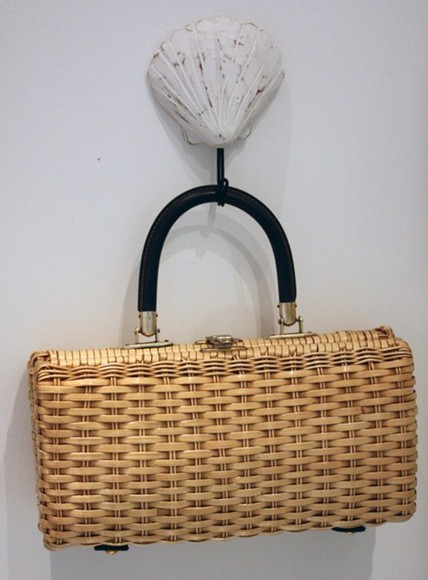 wicker bag yellow bag