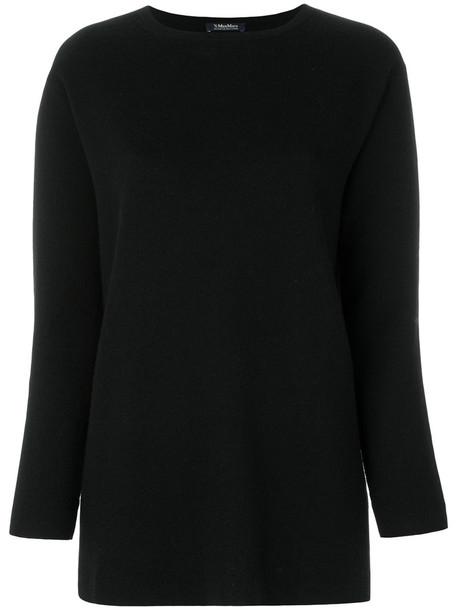 'S Max Mara top knitted top women spandex black wool