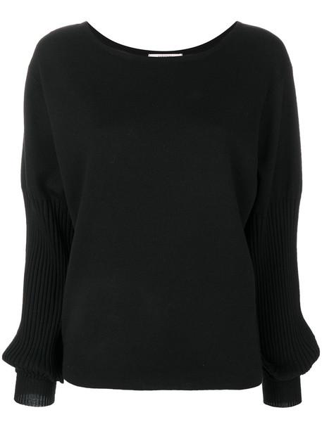 sweater women spandex black silk wool