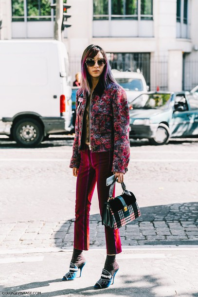 Pants Fashion Week Street Style Fashion Week 2016 Fashion Week Paris Fashion Week 2016 Pink