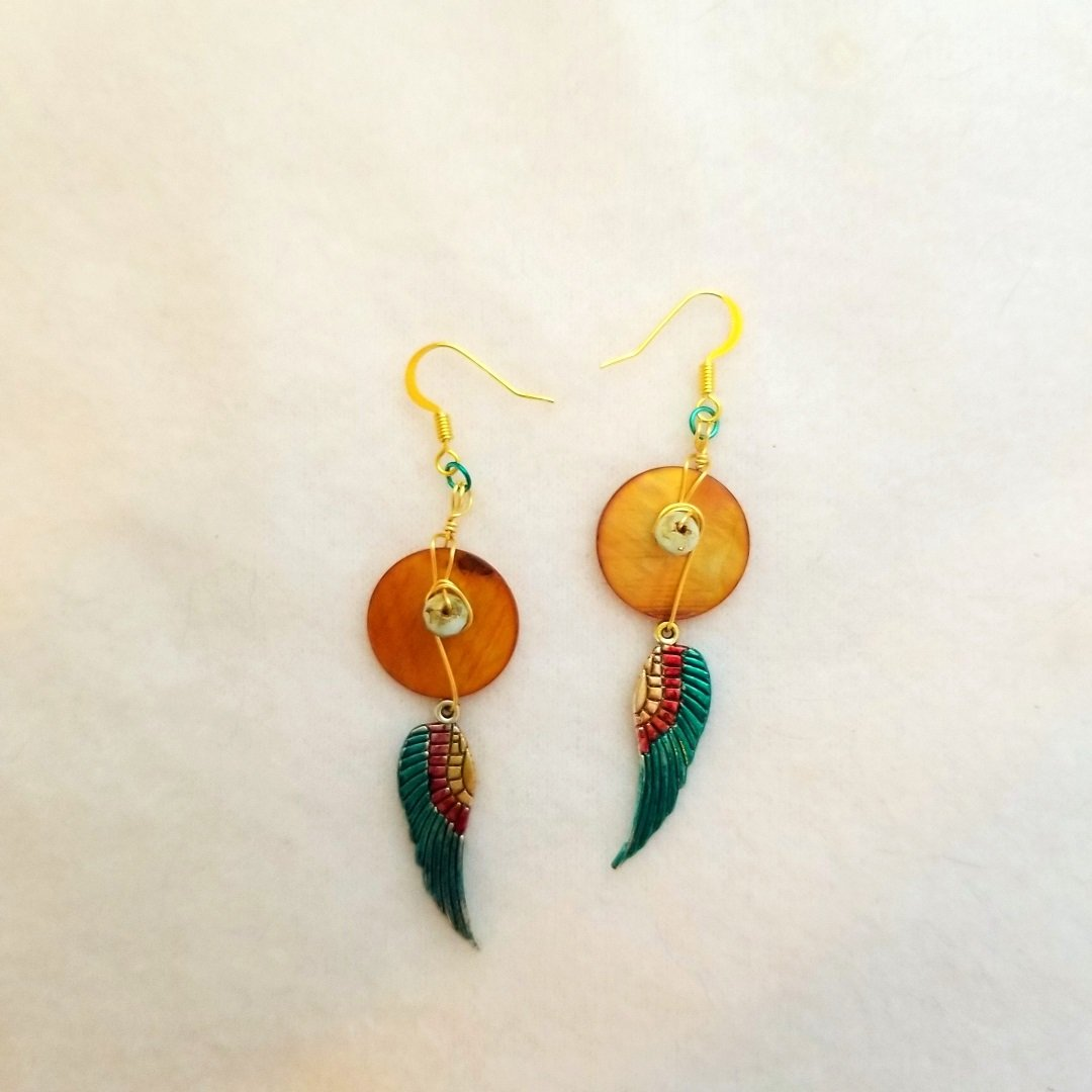 Wings of Isis Dangle Earrings