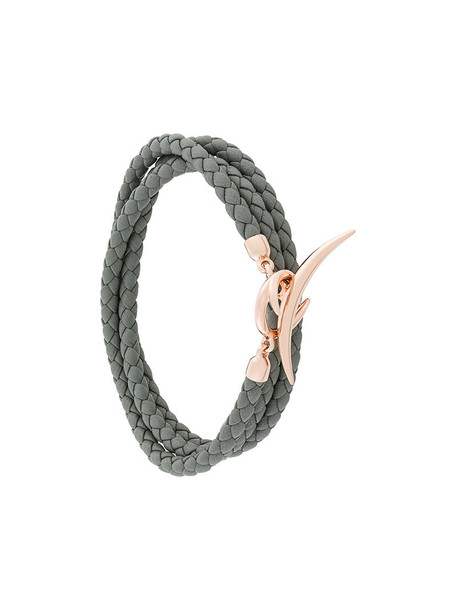 SHAUN LEANE rose gold rose women gold silver leather grey jewels