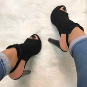 shoes,peep toe heels,high heels,high heel sandals,high heel pumps,black shoes,black,black high heels,pumps,suede,suede pumps,suede high heels,leather,black leather shoes,blach leather high heels black leather booties
