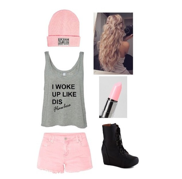 shoes tank top hat shorts