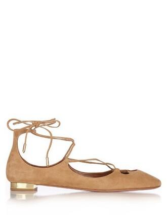 flats suede tan light shoes