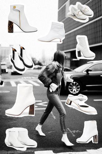 viennawedekind blogger shoes pants socks white shoes boots ankle boots white boots