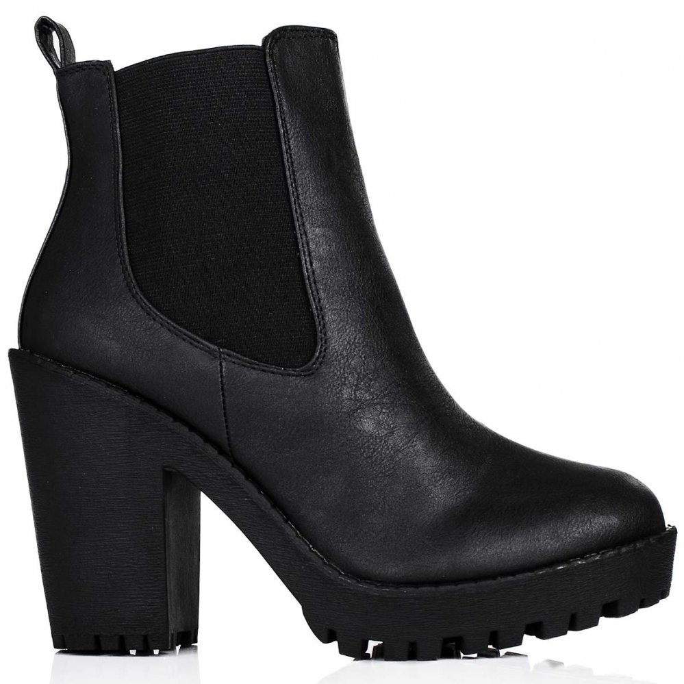 Ankle Boots Leather Black - Yu Boots