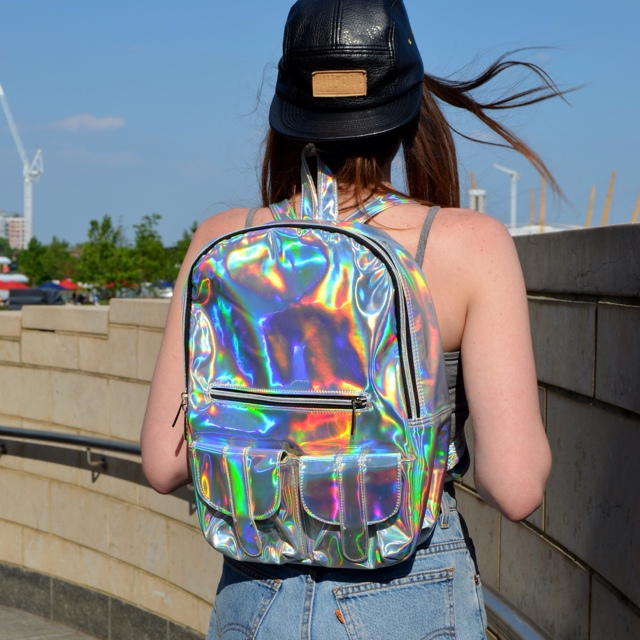 NL 90s Oyster Hologram Backpack. | Nereus London