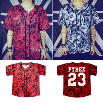 Aliexpress.com : buy hot,2014 summer men`s baseball jerseys design for hd red rose 3d print and number