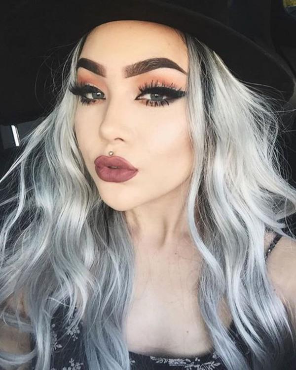 Make Up Silver Hair Long Hair Hairstyles Eye Makeup