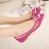 shoes,rose,purple,buckles,suede,flats,spring outfits