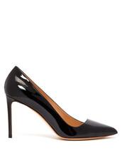 pumps,leather,black,shoes
