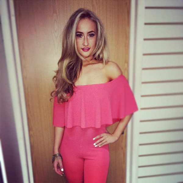 jumpsuit frill jumpsuit frill fashion pink jumpsuit pink fashio girl .fashion blonde hair instagram