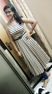 dress,midi dress,lulus,black and white dress,black and white,striped dress,sleeveless dress