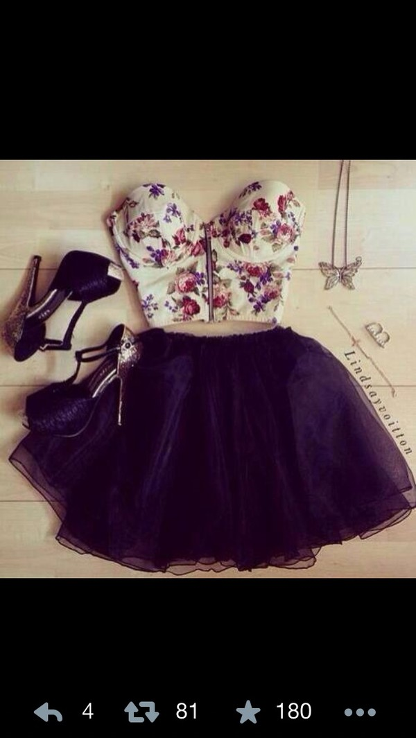 skirt black skirt tulle skirt