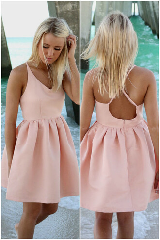 dress amazinglace amazinglace.com pink babydoll summer beach pretty girly cross back party dress