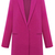 Rose Red Lapel Long Sleeve Loose Woolen Coat - Sheinside.com