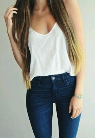 jeans tank top