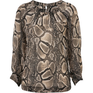 Tall snake open back blouse