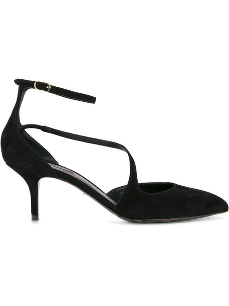 Dolce & Gabbana women pumps leather suede black shoes