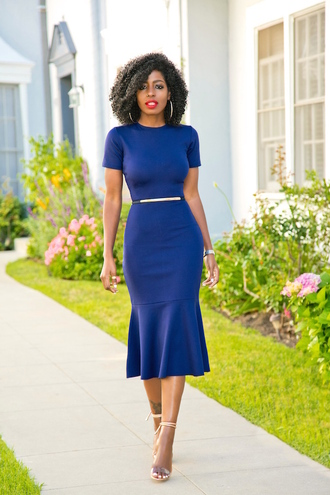 blogger dress belt shoes midi dress