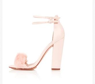 shoes faux fur alexander wang high heels