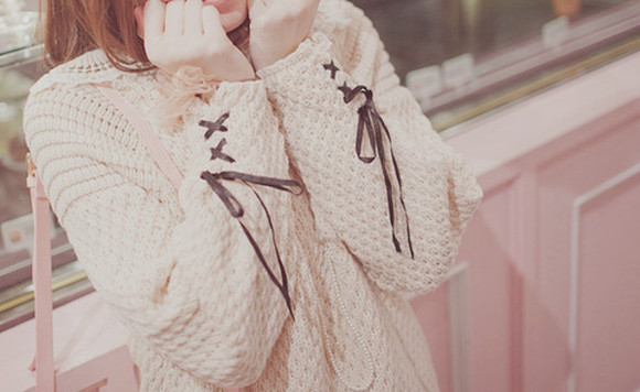sweater knit white knitted sweater lace lace sleeves white sweater