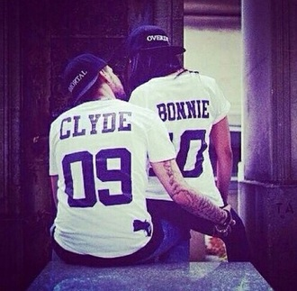 shirt bonnie and clyde cool shirts couples shirts style