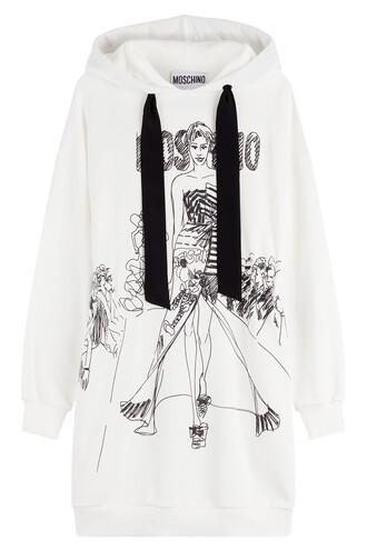 dress sweatshirt dress cotton white