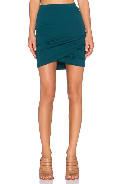 Bella Luxx skirt mini skirt cross mini green