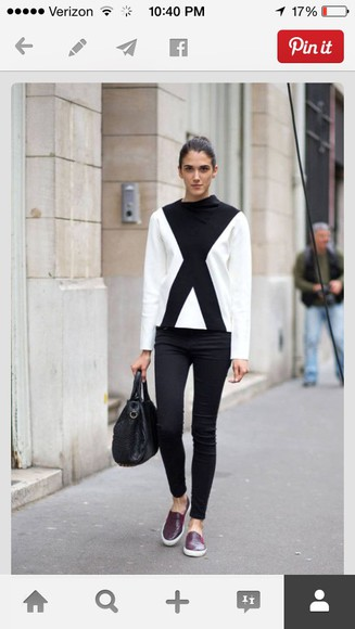 geometric black and white white and black white and black sweater