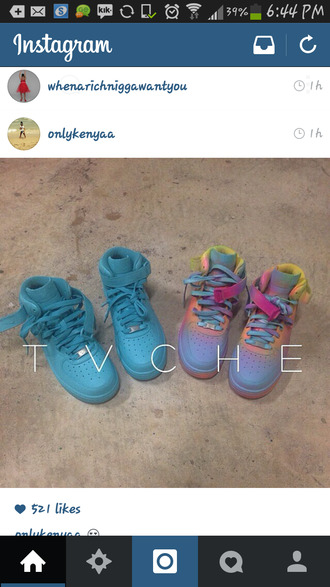 shoes tie dye air force ones blue shoes wheretoget?