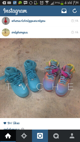 shoes air force ones blue shoes tie dye wheretoget?