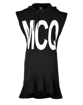 cotton logo t-shirt dress alexander mcqueen mcq