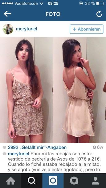 dress beige dress beige glitter dress