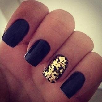 nail polish black nail polish gold style
