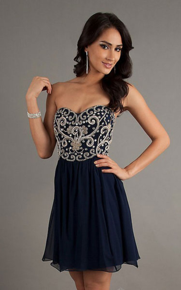 dress short royal blue prom dress prom blue dress marine prom dress bling