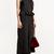 Black Sleeveless Ruffles Decor Wide Leg Cropped Jumpsuit